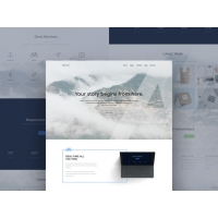 Creative Designer Website Landing Page Template Free