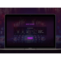 Event Countdown Web Template Free