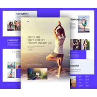 Yoga And Fitness Center Website Template Free