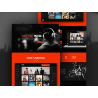 Music Player App Website Template Freeu