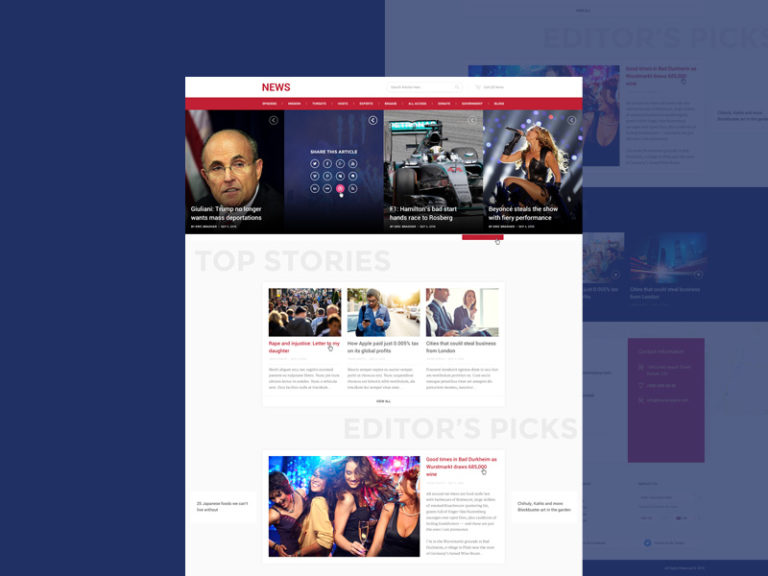 News and Magazine Style Website