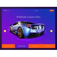 Sports Car Landing Page Header Free
