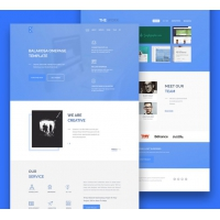 Multipurpose One Page Website Template Free