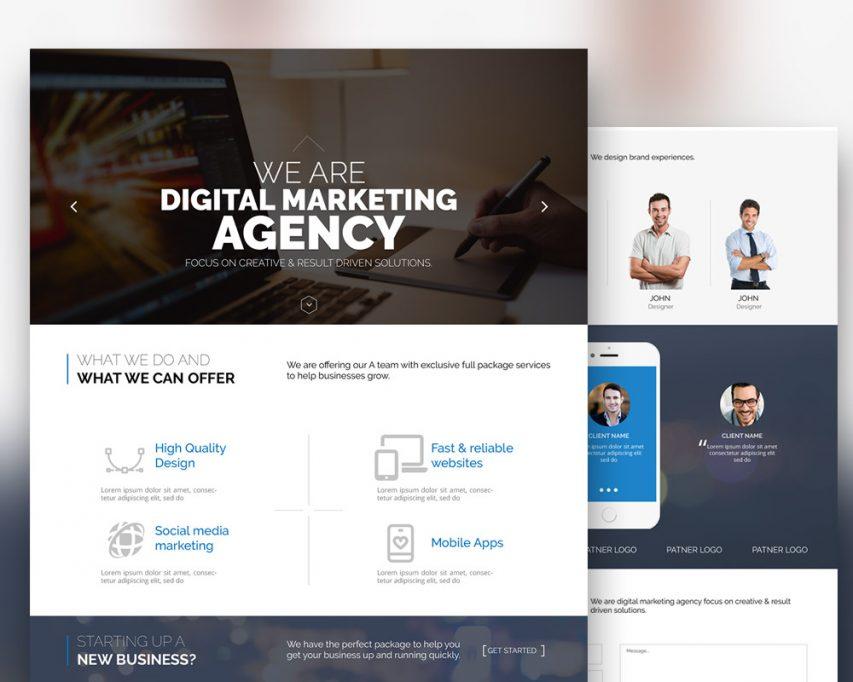 Digital Marketing Agency Website Template Free