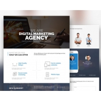 Digital Marketing Agency Website Template Free