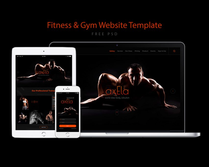 Fitness and Gym Website Template Free