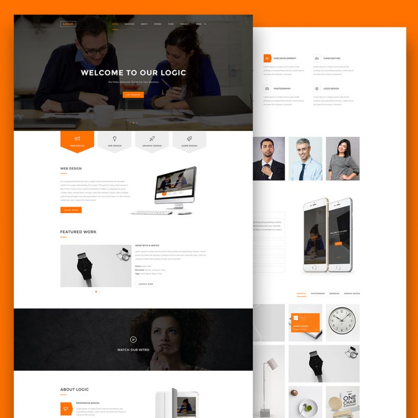 Multipurpose Website Template Free