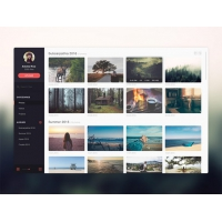Photo Gallery Website Application Template Free