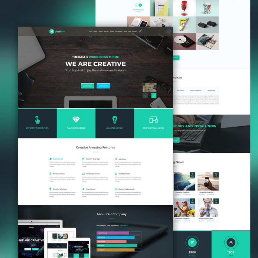 Creative Landing Page Template Free