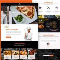 Restaurant Website Homepage Template Free