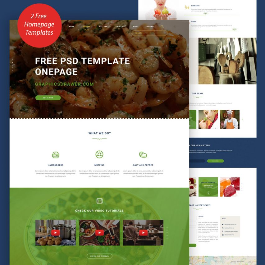Cooking Blog Website Template Free