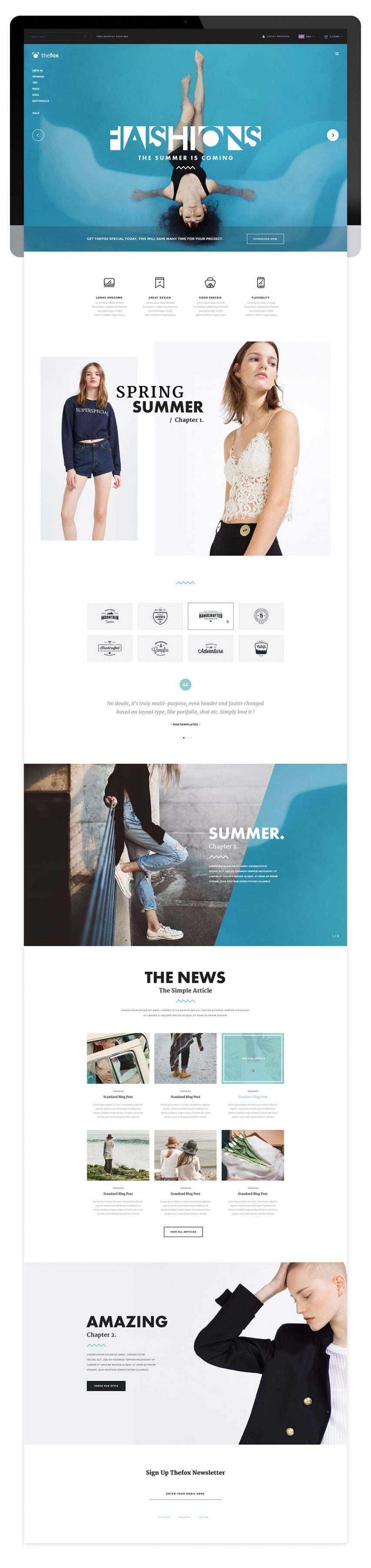 Elegant Multipurpose Fashion Blog Template Free