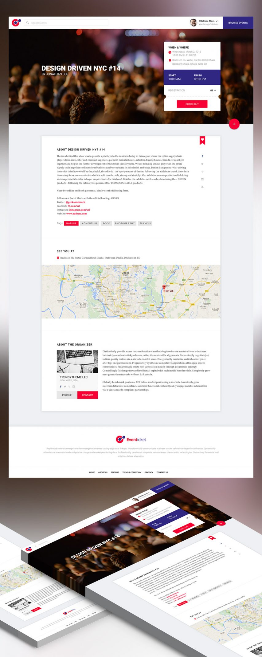 Event Landing Page Template Free