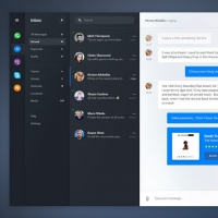 Instant Mobile Chat Messenger UI Free