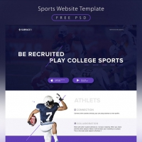 Sports Website Template Free