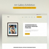 Art Gallery Exhibition Landing Page