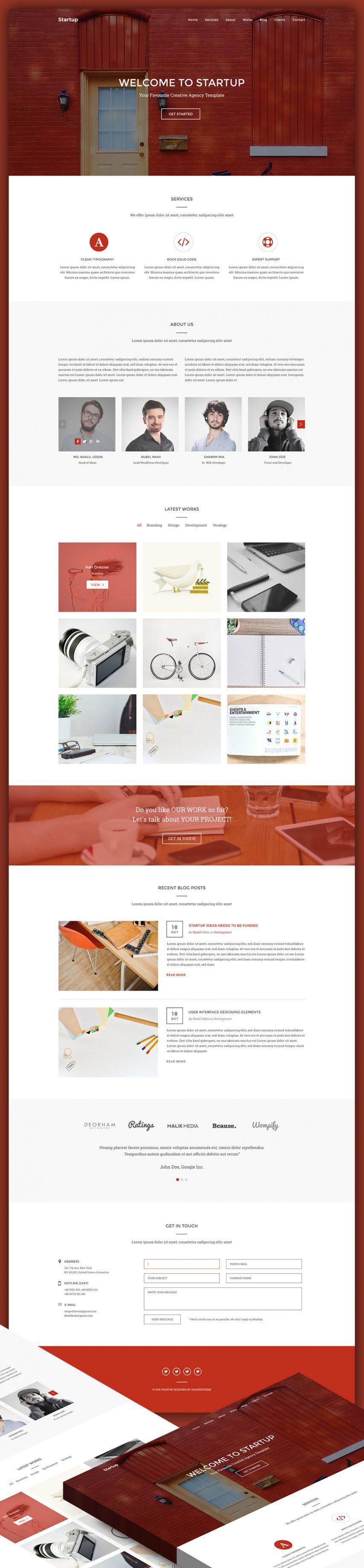 Creative Agency Website Homepage
