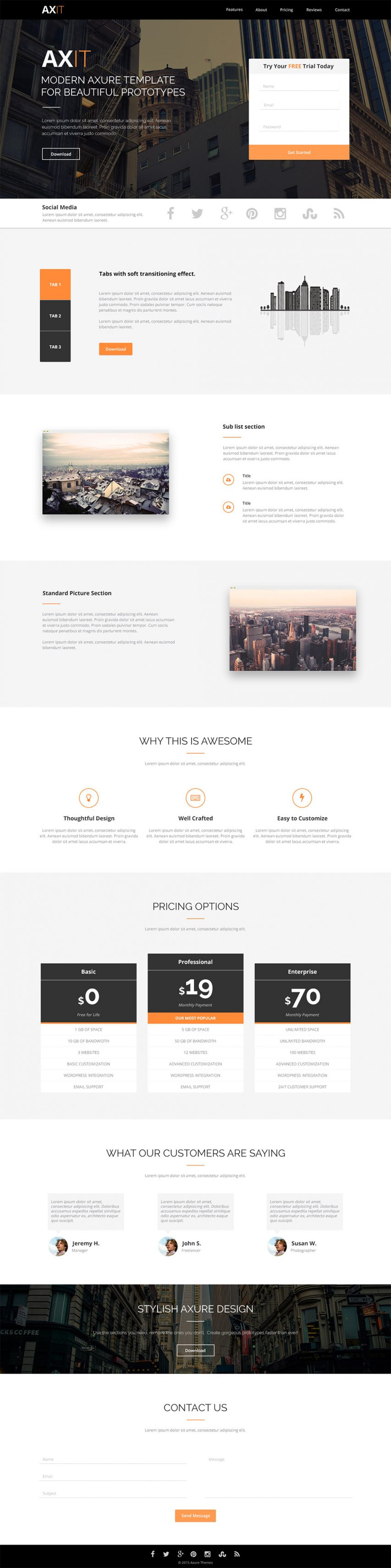 Clean Modern Landing page Template Design