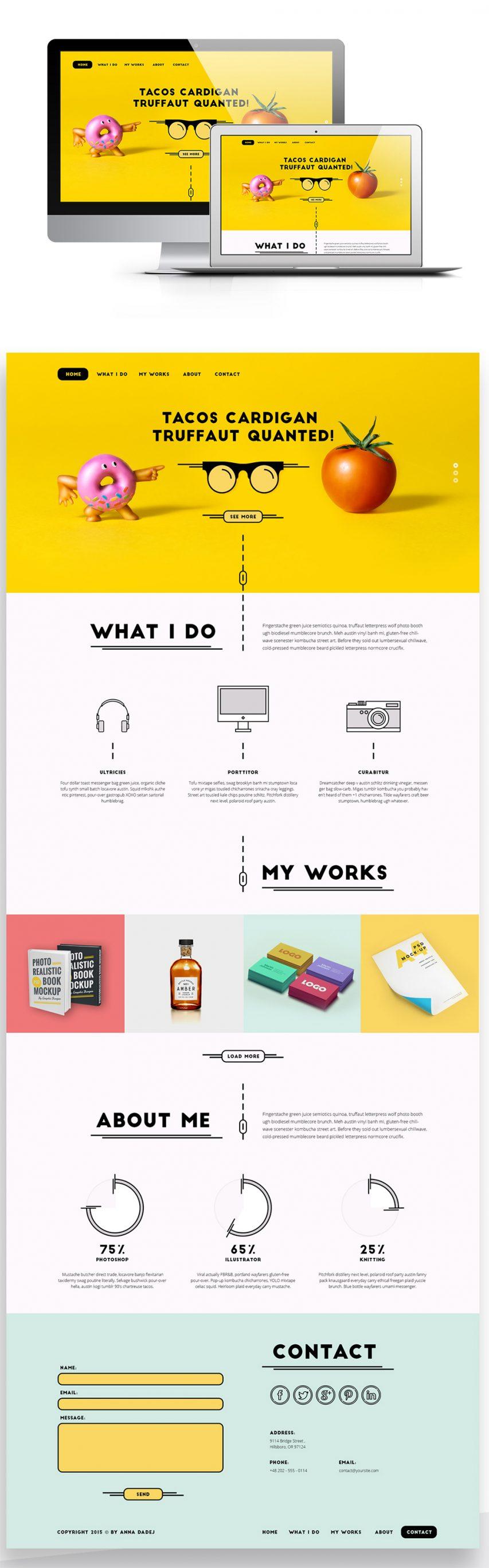 Creative Single Page Personal Portfolio Website