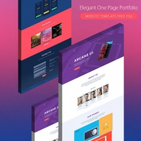 Elegant One Page Creative Agency Portfolio Template Free PSD