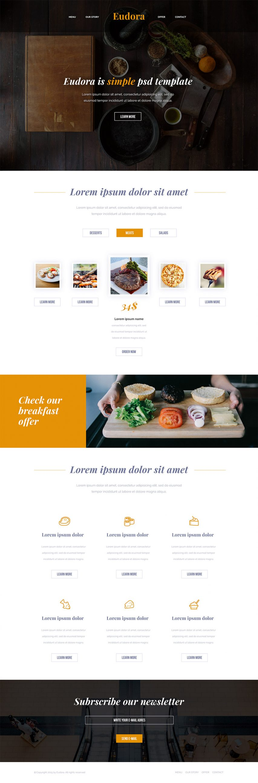Modern Restaurant Website Free