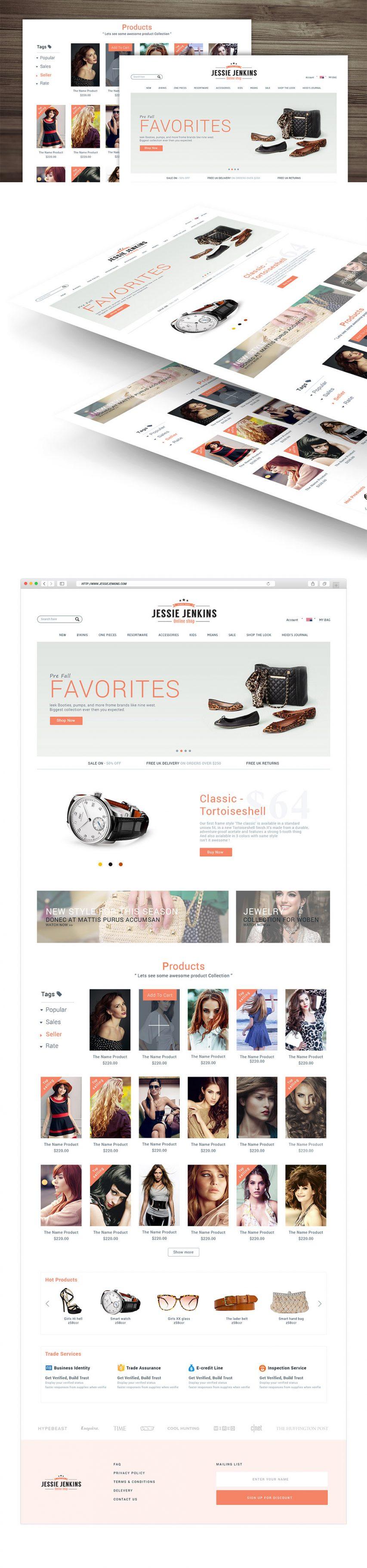 Modern Premium eCommerce Website