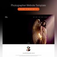 Clean Photographer Website Template