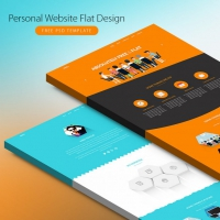 Personal Website Flat Design