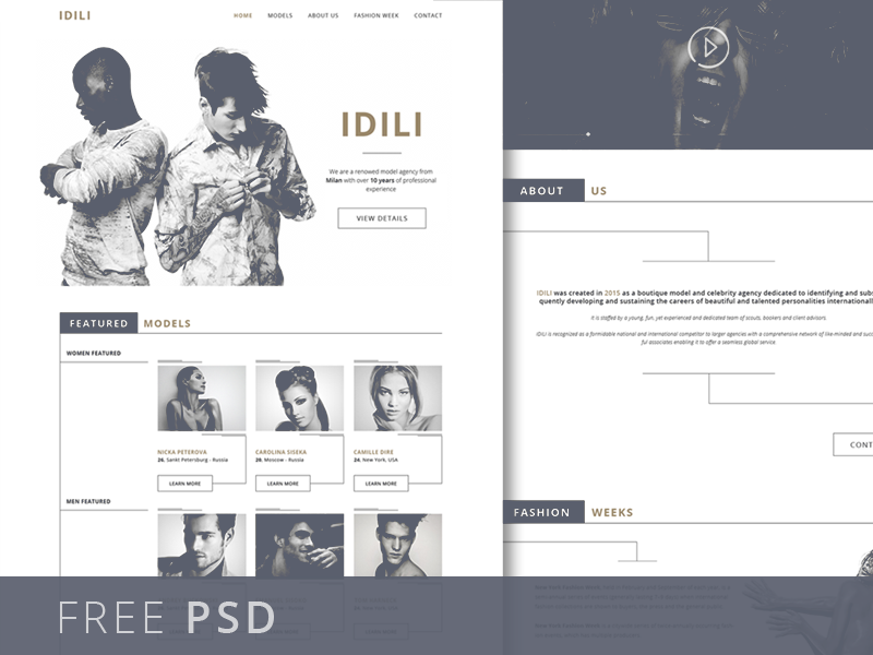 Fashion Agency Website Template