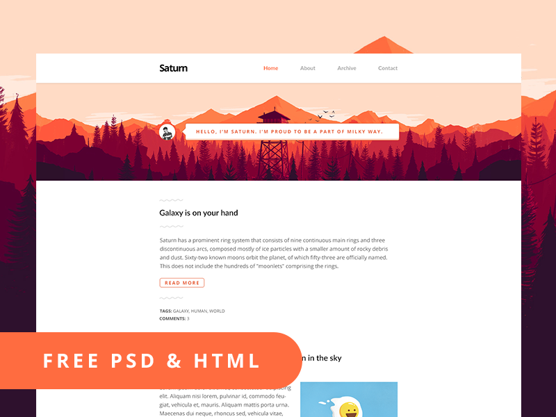 Clean Personal Website Page Free