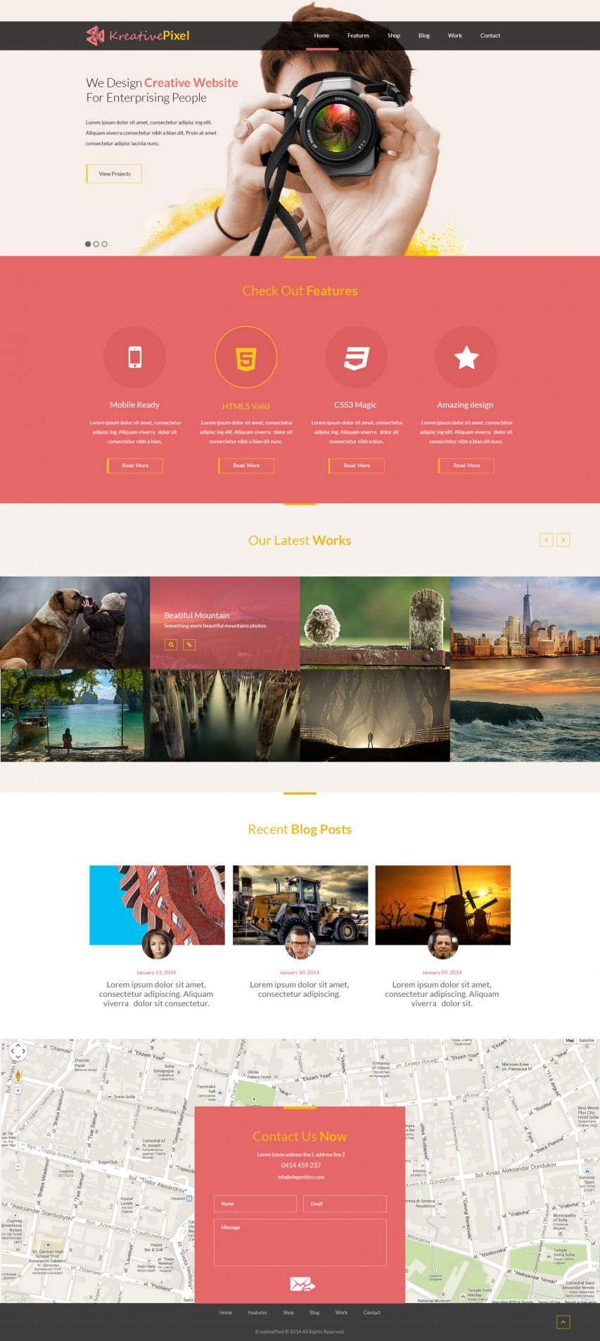Creative Website Design Template