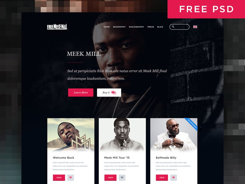 Simple Music Artist Web Page