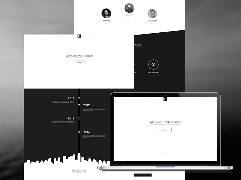One Page Flat Black and White