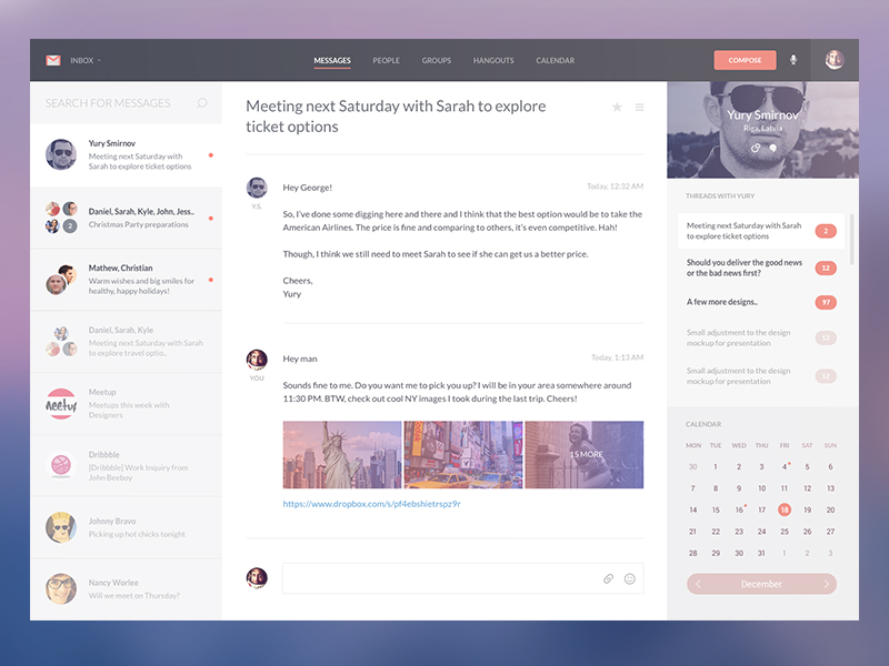 Gmail Revamp Template Concept