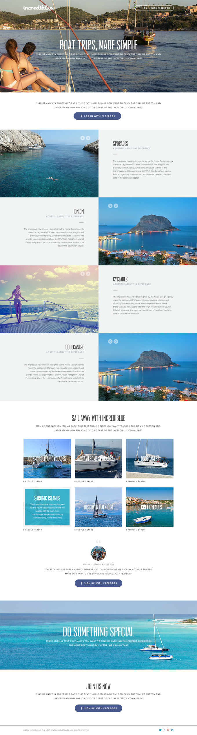 Travel Website Landing Page PSD