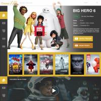 Movie Cinema Website PSD