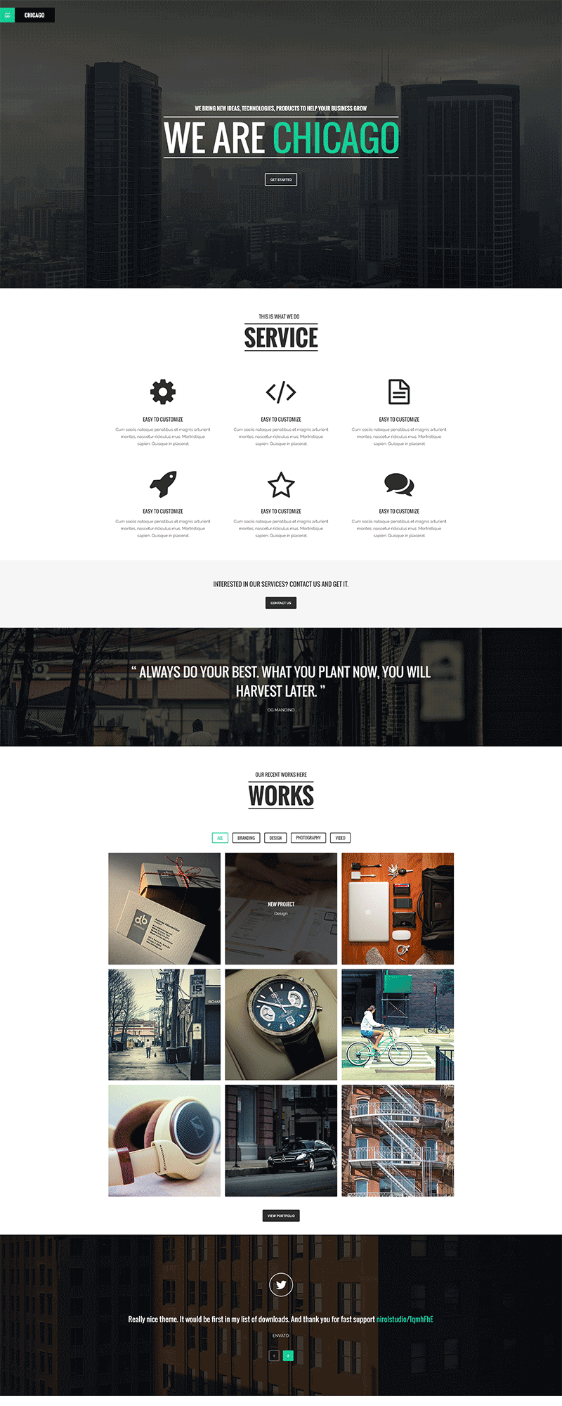 Simple Single Page PSD Website