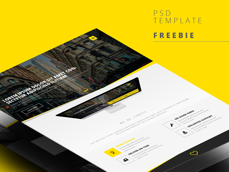 Professional Web Template Interface
