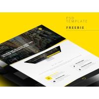 Professional Web Template Interface