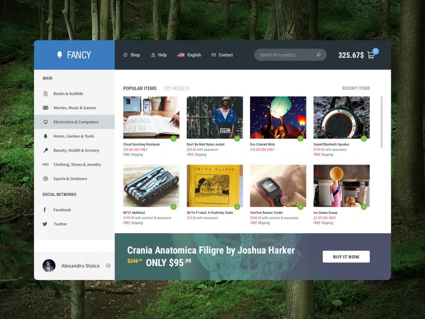 Fancy Shopping Website