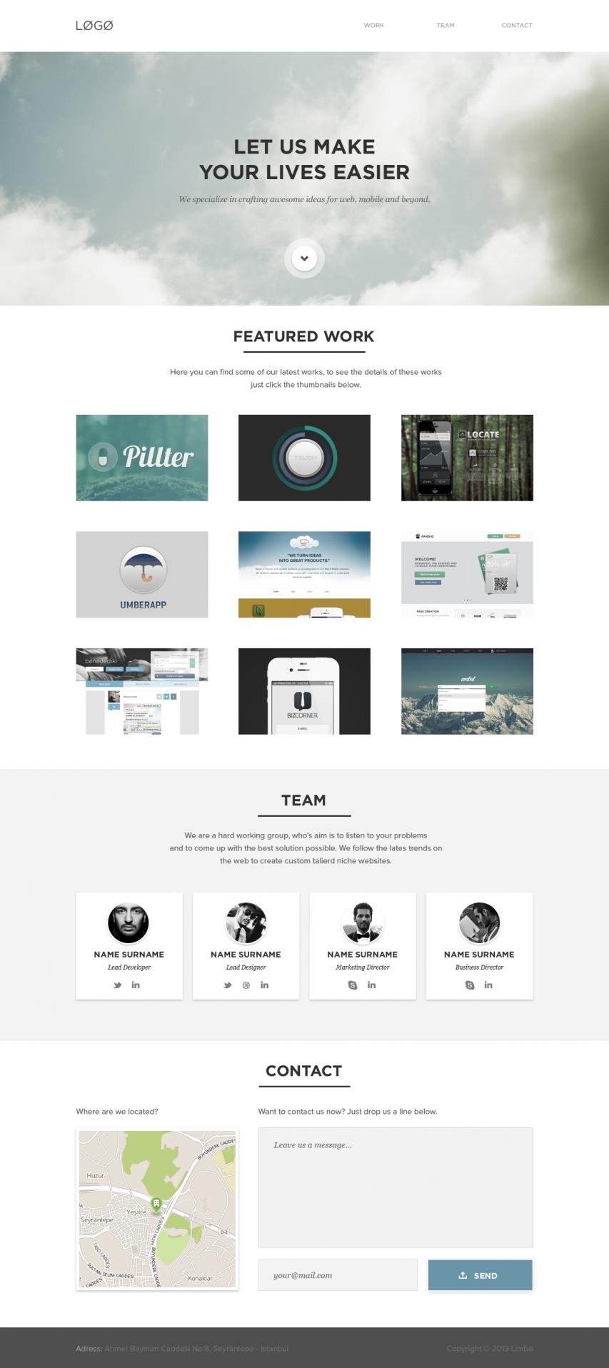 Clean White Portfolio Website
