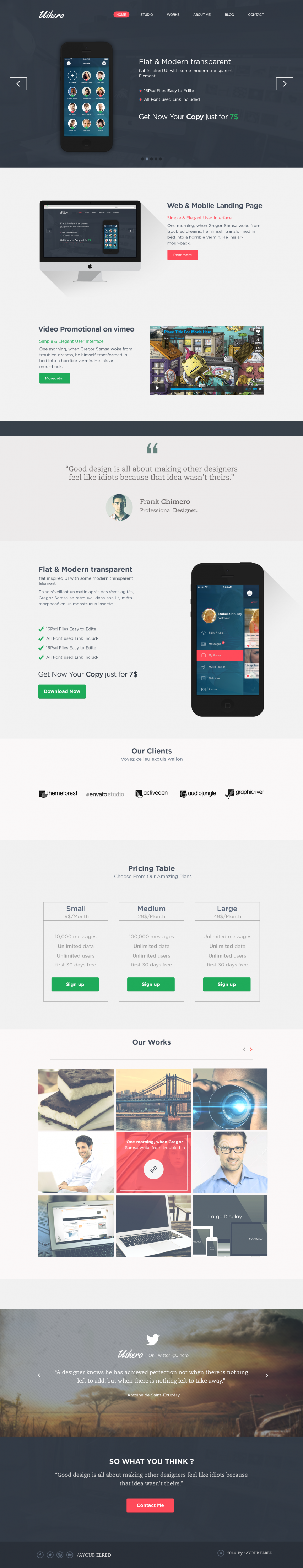 Single Page Flat Website Template