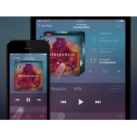 Music Player App for iOS PSD