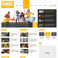 News Magazine Homepage PSD