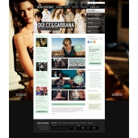 Fashion Website Free PSD