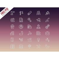 Construction Icons Set Free