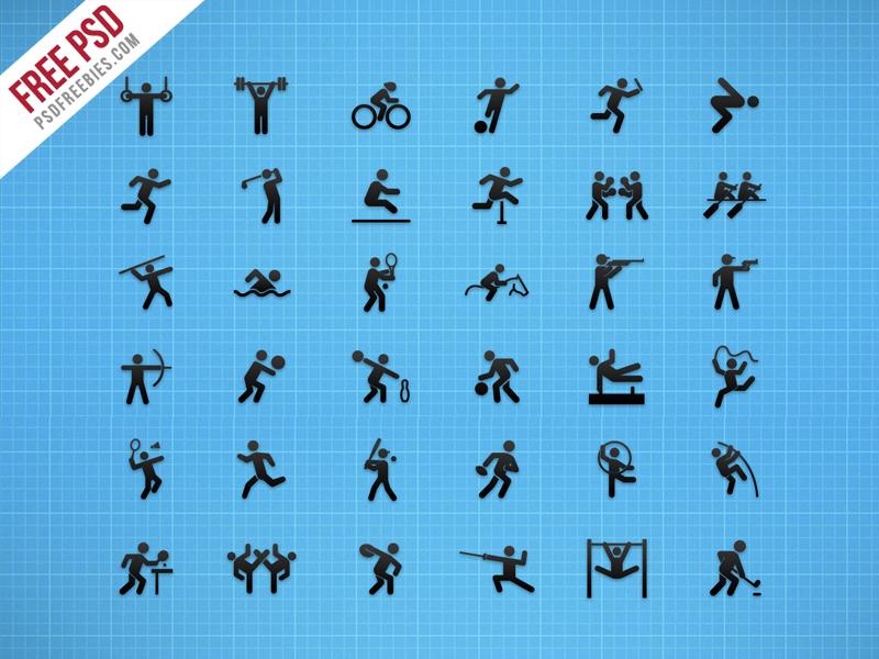 Flat Sports Iconset Free