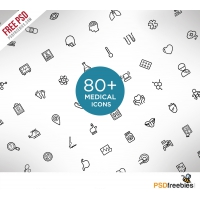 Medical and Science Outline Icon Set Free