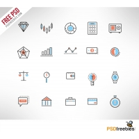 Investment Doodle Icon Set Free