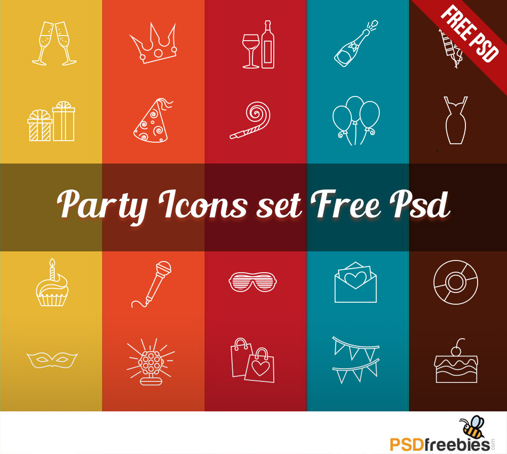Party Icons Set Free
